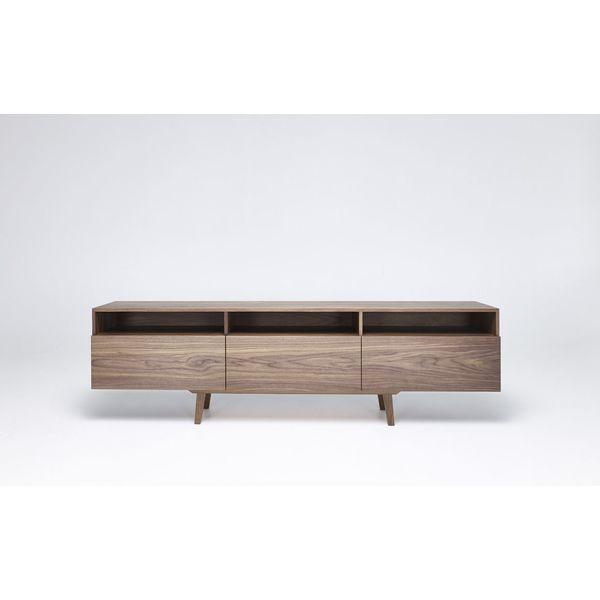 Großes Sideboard Für Esszimmer Und Wohnzimmer In Wallnuss. Minimalistisches  Skandinavisches Design.