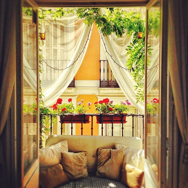 "@30secondsleft's photo: ""I plan on my balcony to look like the secret garden by the end of summer lol!!! "" Madrid."