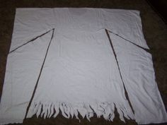 Easy Ghost Costume | This is a really easy Ghost Costume. It starts out by folding a long ...