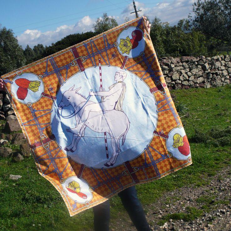 ermes multi function scarf by gianfranco setzu