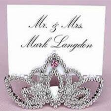 tiara place card holder