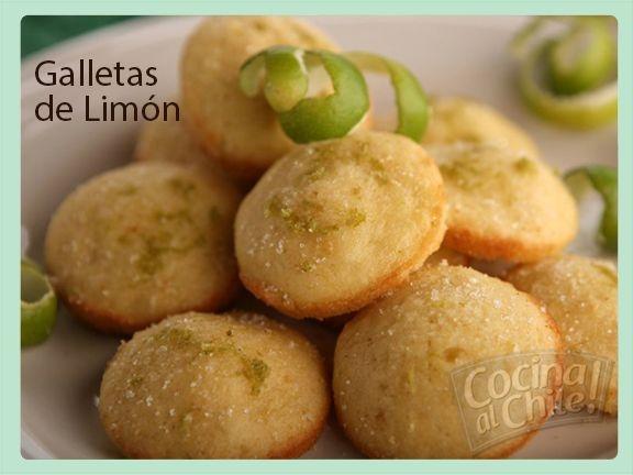 Deliciosas y esponjosas galletas con un toque de sabor a limón.