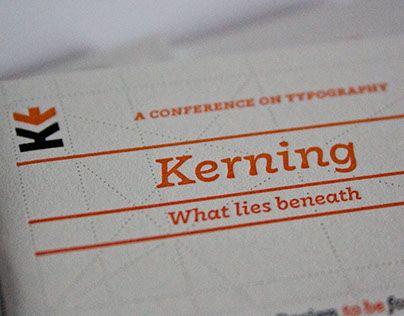 Kerning 2015 printed material: caricatures, badges, letterpress notebook.