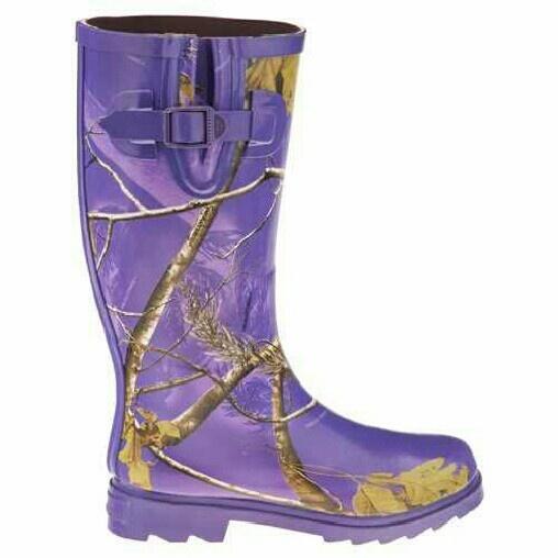 Purple Camo Rain Boots