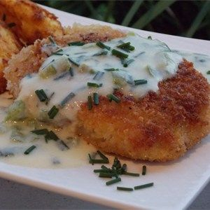 Crispy pork cutlets are sooo good. Watch the video to see how to make the gravy.  Allrecipes.com