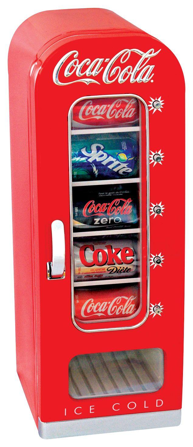Coca-Cola - 0.6 Cu. Ft. Retro Vending Refrigerator - Red - Larger Front