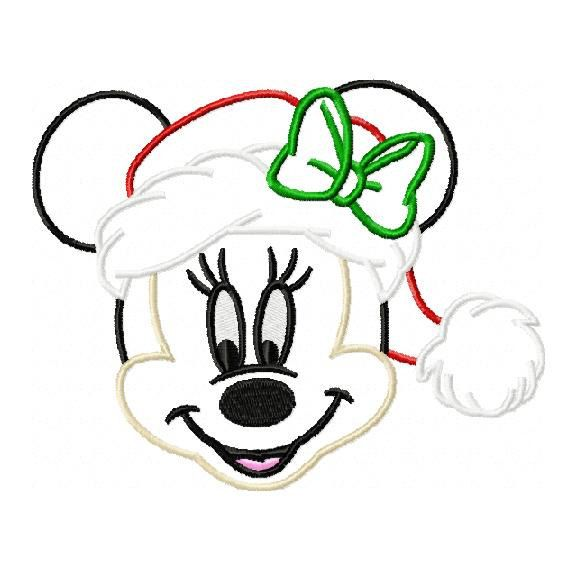 Minnie mouse christmas applique design in by