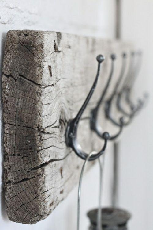 portemanteau rustique en bois