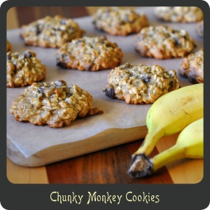 Chunky Monkey Cookies—Oatmeal, banana, and chocolate chip cookies.