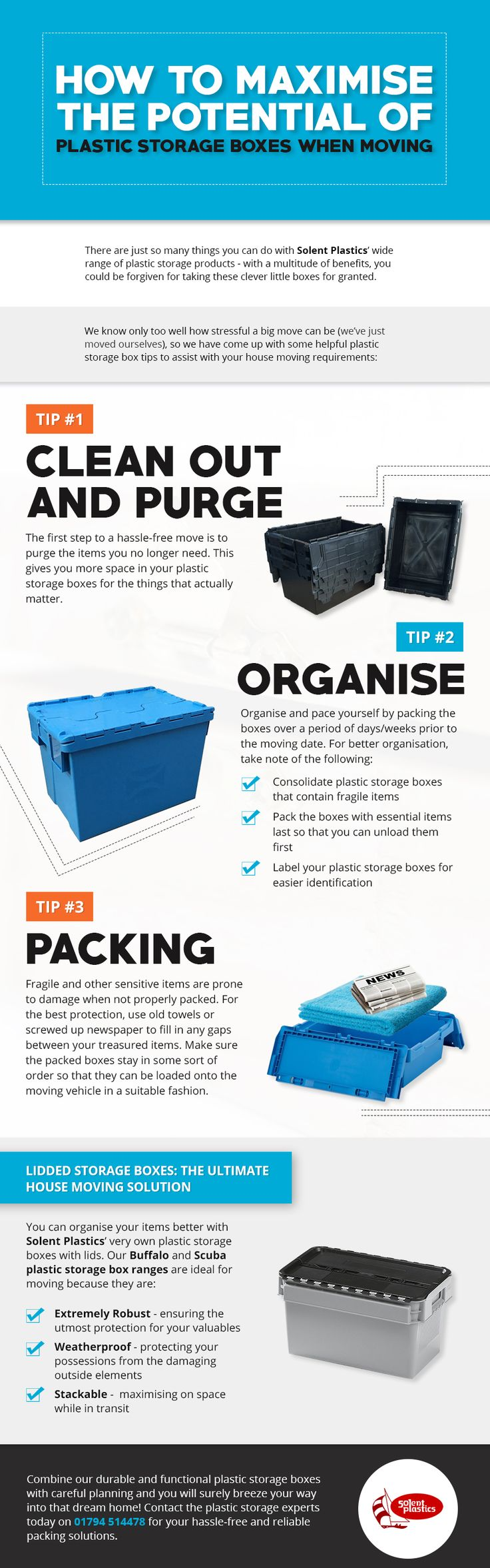 How to Maximise the Potential of Plastic Storage Boxes When Moving...