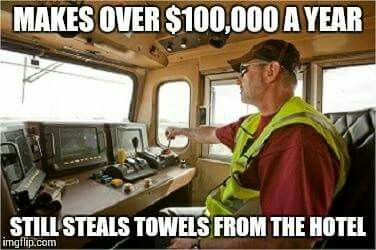 Hahaha! My husband doesn't steal anything, but this is still funny!