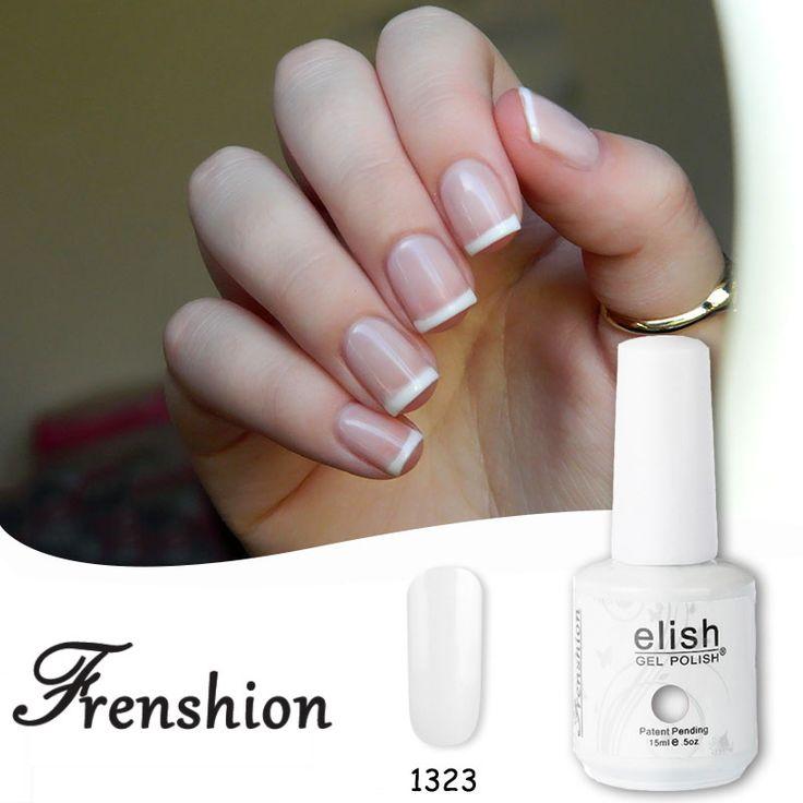 Frenshion Blanc Francese Bianco Base Coat UV Del Gel Del Chiodo UV LED Brillante Vernis Semi Permanente 15 ml Top e Vernice Manicure
