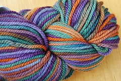 Dinai color way in Blue Faced Leicester 3-ply yarn