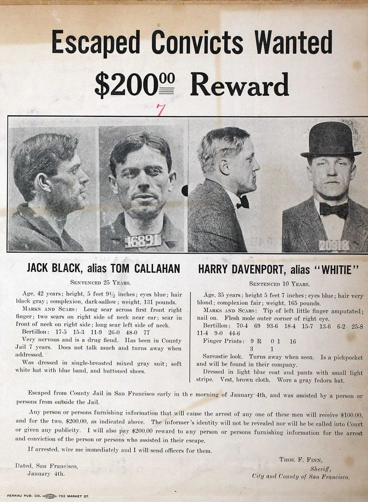 Jack Black & Harry Davenport Wanted Poster