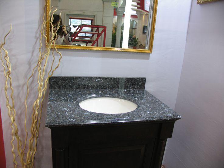 newstar type of prefab tops for china cheap granite countertop blue granite bathroom top