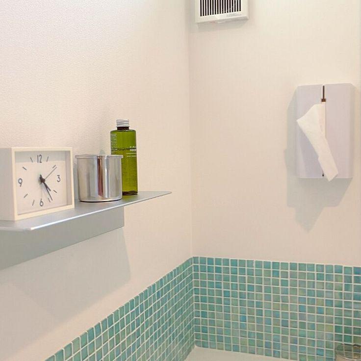 Bathroom/無印良品/洗面所/タイル/脱衣所/壁に付けられる家具...などのインテリア実例 - 2015-10-21 12:04:47
