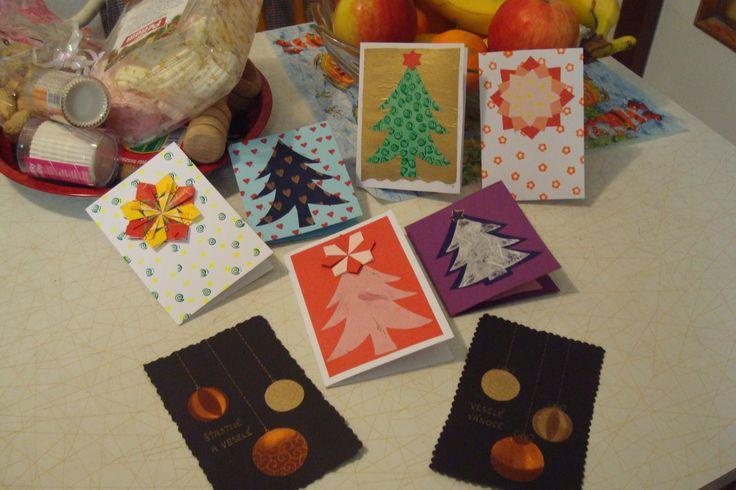 #Christmas, #Handmade, moje vánoční přáníčka 2013