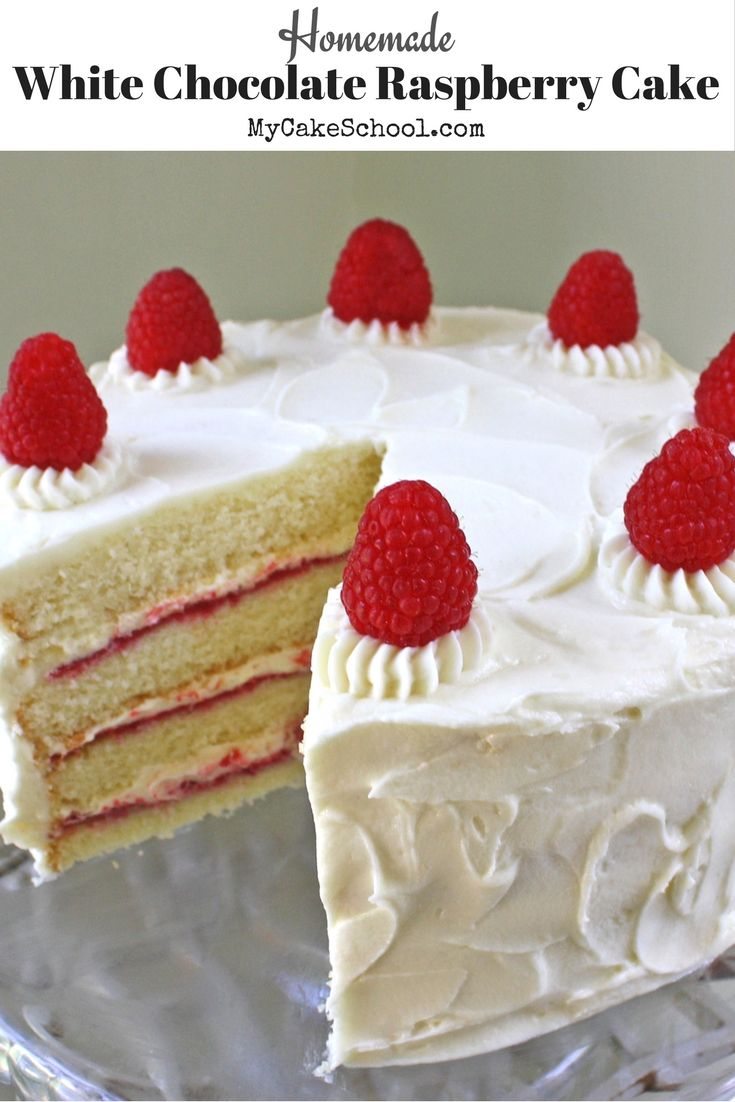 Ultra Moist and Delicious White Chocolate Raspberry Cake Recipe by MyCakeSchool….  – Food