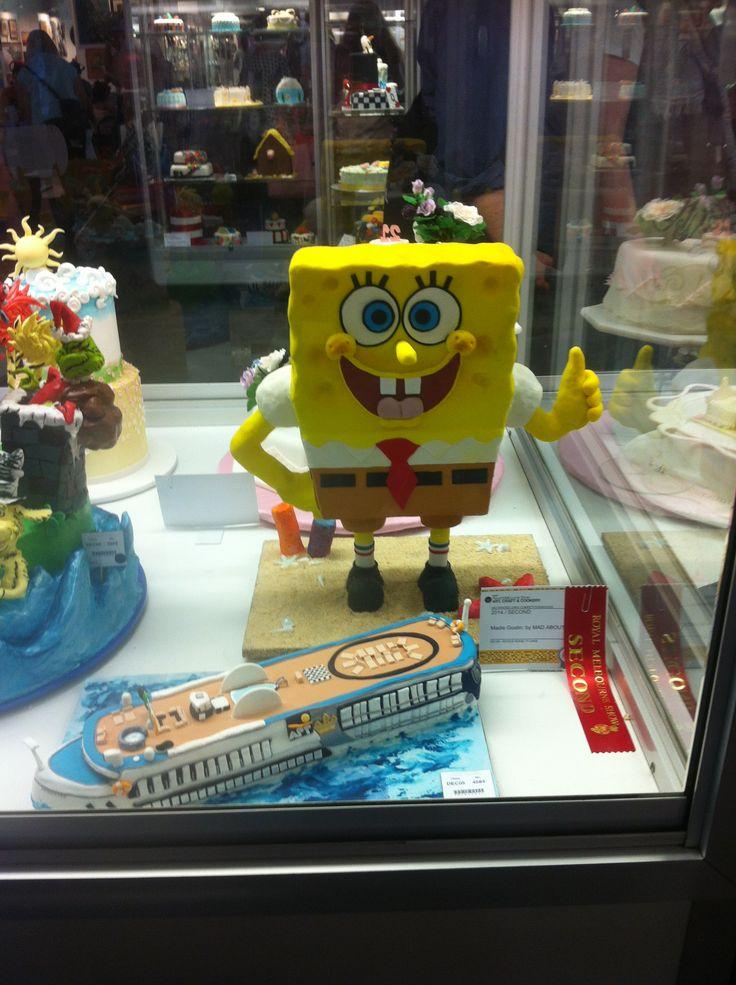 Decorative Themed Cake Sponge Bob Royal Melbourne Show 2014