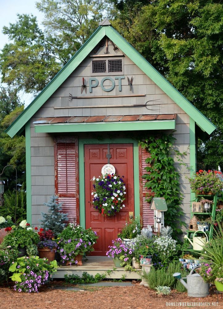 potting shed featured in she sheds a room of your own - Garden Sheds Eugene Oregon