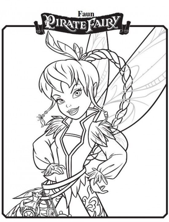 Faun New Tinkerbell Pirate Fairy Coloring Pages 550x722 Picture
