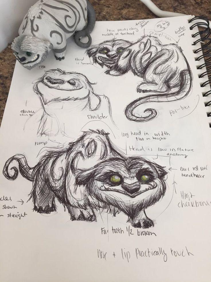 Sketches and figurine ... gruff, tinkerbell, Gruff the NeverBeast, neverbeast