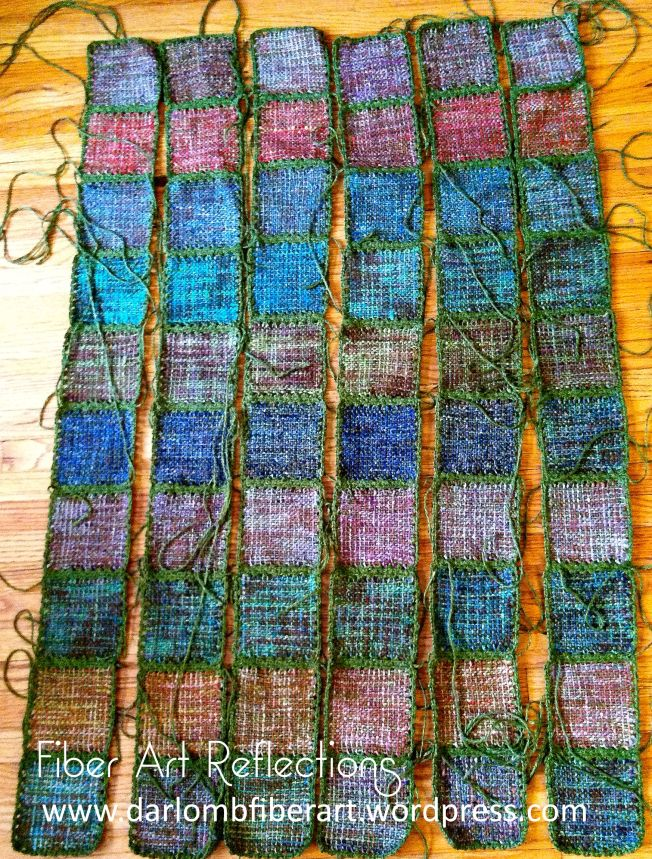 Fiber Art Reflections: Joining Pin Loom Squares with Crochet