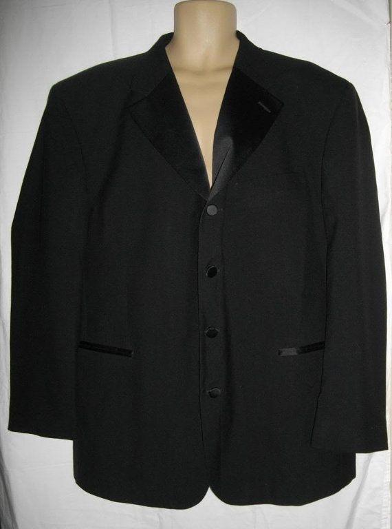 Jean Yves Black Tuxedo Jacket 50R Single by EarthWindandFashion