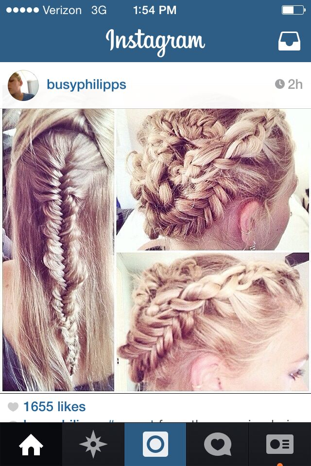Gorgeous braid updo-From Busy Philips's instagram