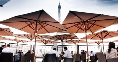 Restaurant les ombres.. Best view of Eiffel Tower, on top of musee du quai branly