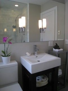 Mirror Top Small Bathroom Design On Corner Sinks Can Be Good For Use In Small  Bathroom