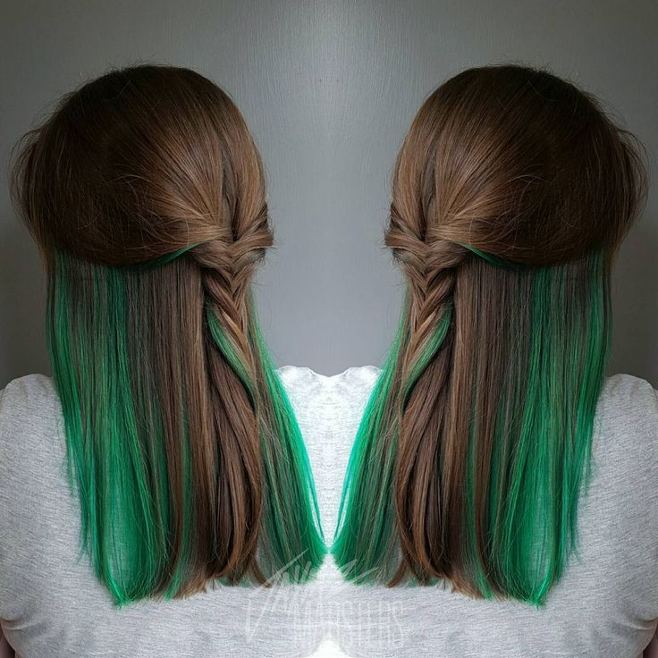 Best 25 green highlights ideas on pinterest teal highlights 20 ways to rock green hair pmusecretfo Images