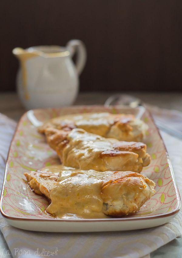 Pechugas de pollo con salsa de mostaza | receta exprés sin lactosa