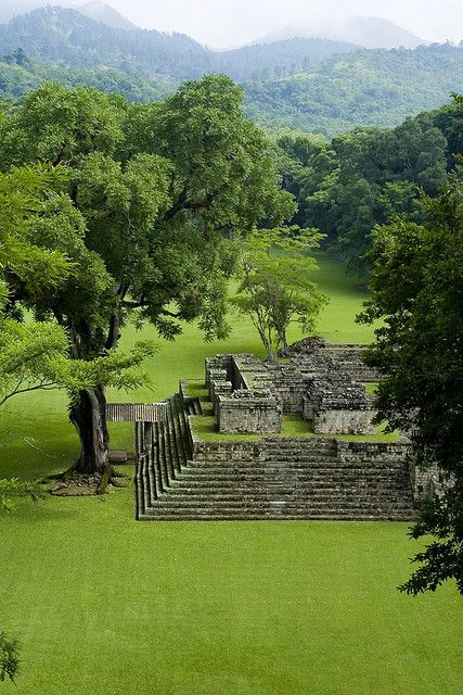 Mayan pyramids at Copán, Honduras -I've been here before on one of my many trips to the homeland :)