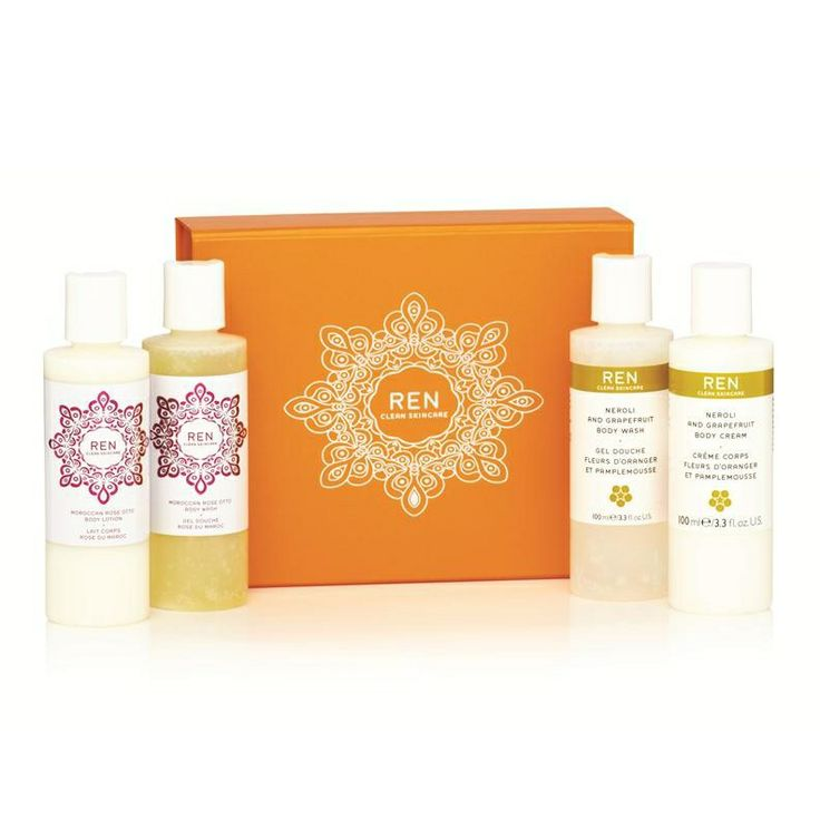 REN Natural Skincare body gift set contains minis of their best selling body washes and body creams! #Natural #Skincare #Beauty #Organic #Rose #Neroli www.skinnutrition.co.uk