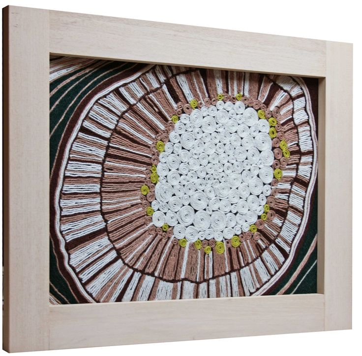 Cortex. Wool painting. Decorative panel made by wool glued on canvas. Marcella Peluffo artist