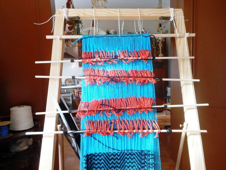 Daniela Lorenzi - Telaio auto-prodotto a 4 licci - Sciarpa in lana.