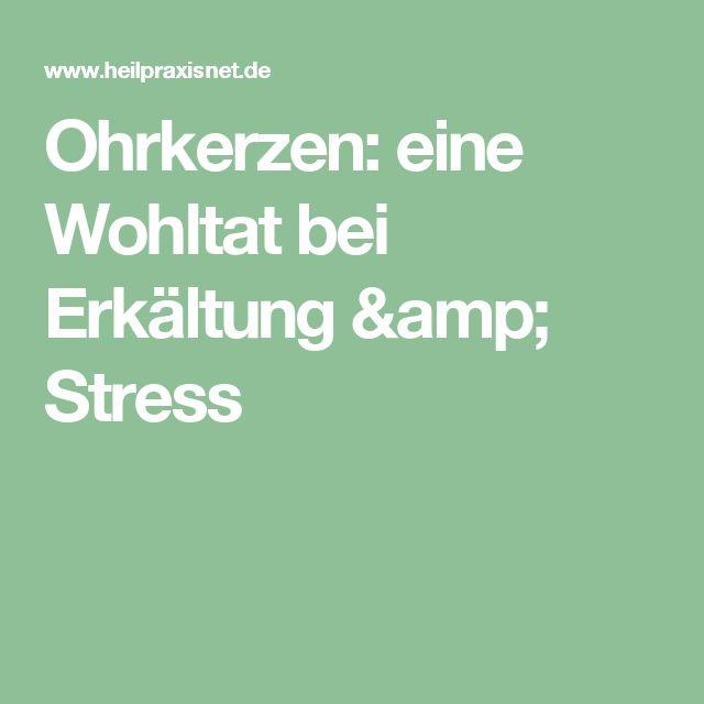 Ohrkerzen: eine Wohltat bei Erkältung & Stress