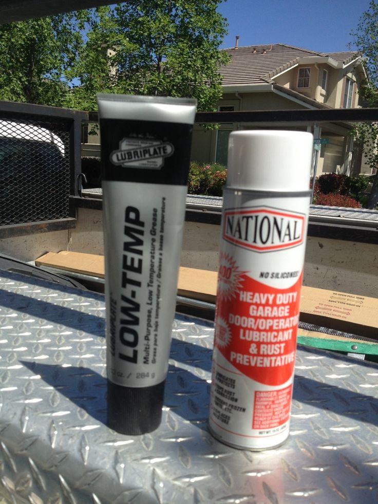 Lubricant For Garage Door Rails