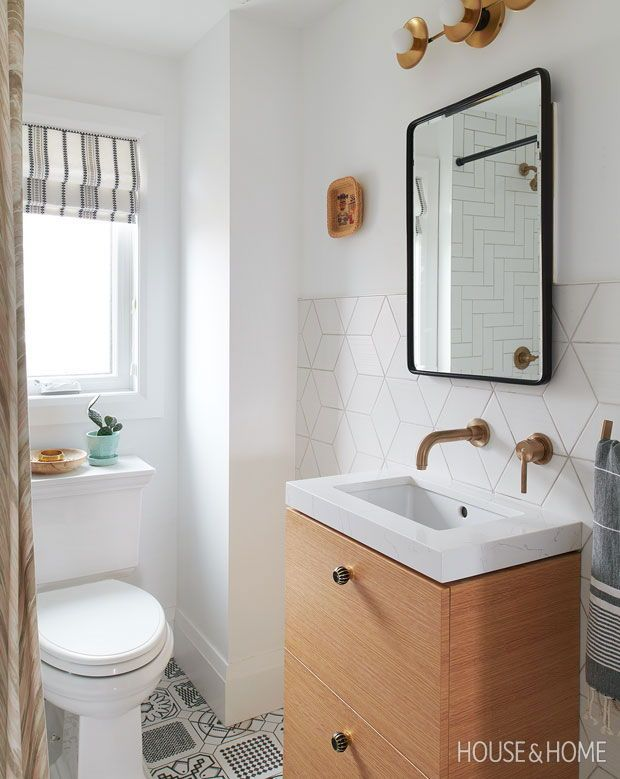 See How Wood Cabinets Wow In These 55 Kitchens Bathrooms Bathroom Remodel Designs Small Bathroom Tiles Bathroom Design Layout