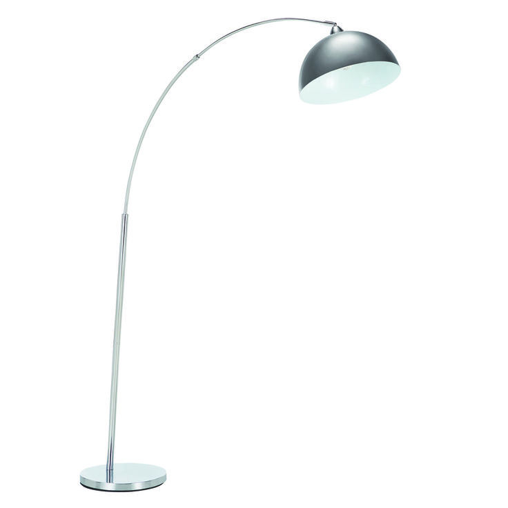 With its sleek and slimline stand and elegant curved shape, the Retro Floor Lamp in Silver will add cutting edge style to your lounge-room.  Price $99.