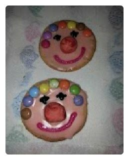 Red Nose Day Clown Biscuits
