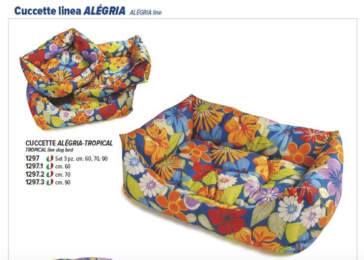 Cuccette colorate per cani #Recordit, Linee Alégria con simpatiche fantasie a fiori. www.recordit.com/