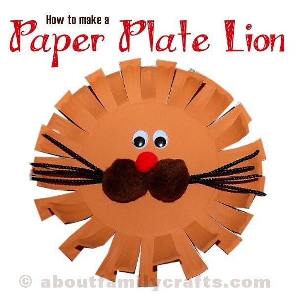 how to make lion mask from paper plate