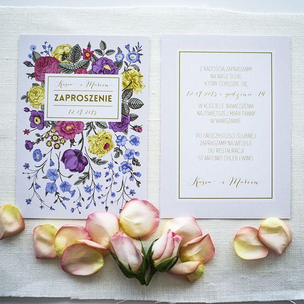 Zaproszenia ślubne Vintage - PaperStory - Zaproszenia ślubne