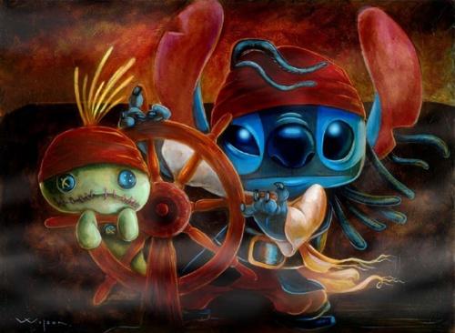 Stitch as Jack Sparrow
