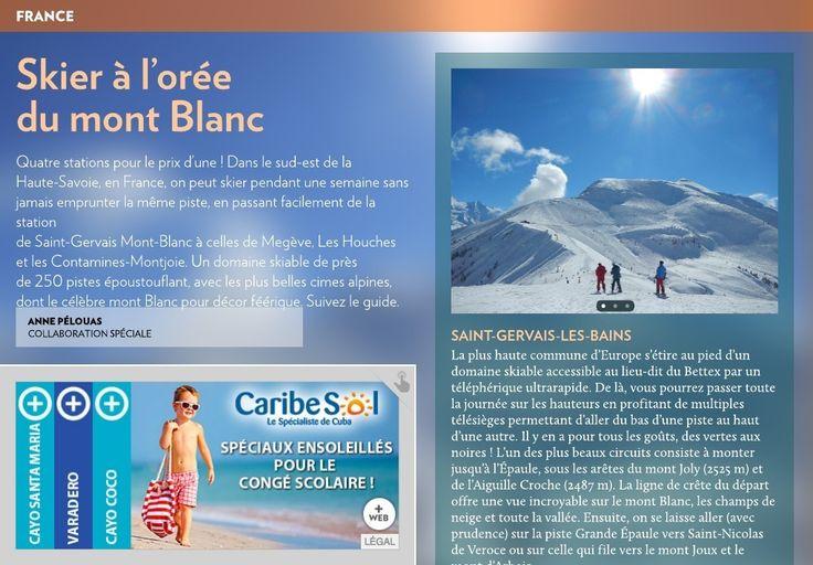 Skier à l'orée du mont Blanc - La Presse+