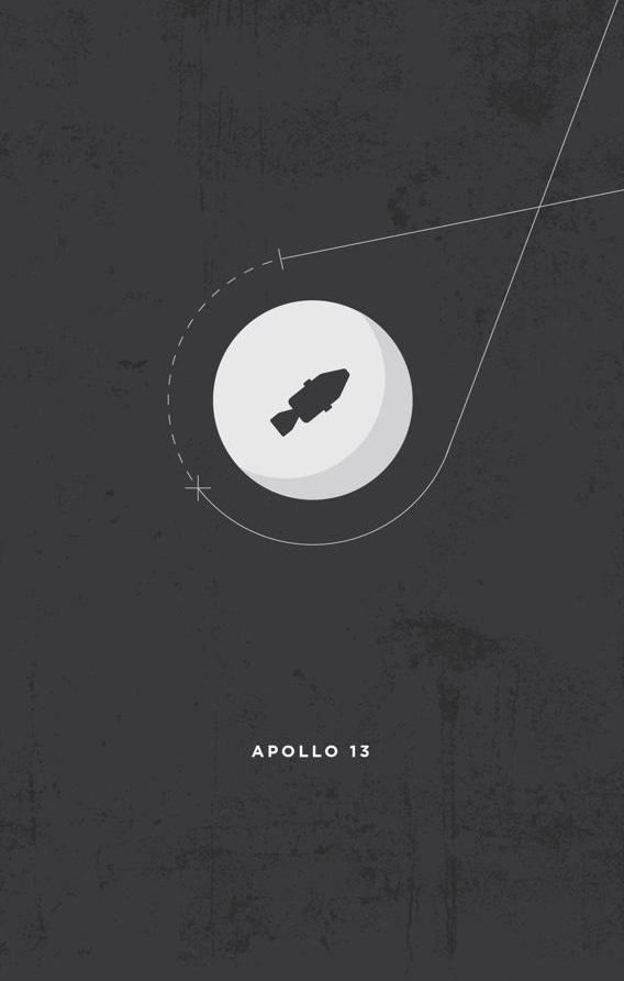 Apollo 13 (1995) ~ Minimal Movie Poster by Justin Jackson #amusementphile