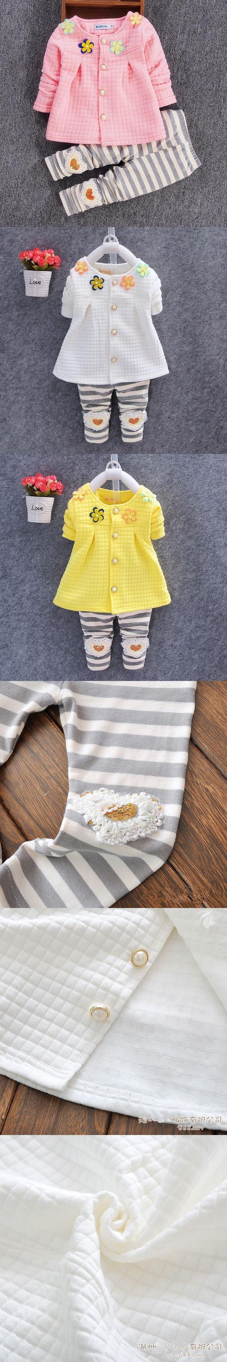 Baby Girl Clothes 2016 Spring Fashion Newborn Baby Girls Clothes Set 3-24M Cotton Full Sleeve Clothing Roupa De Bebe Menina