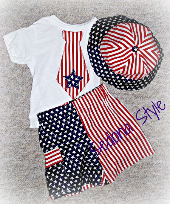 Boys Patriotic July Boutique Outfit Upto